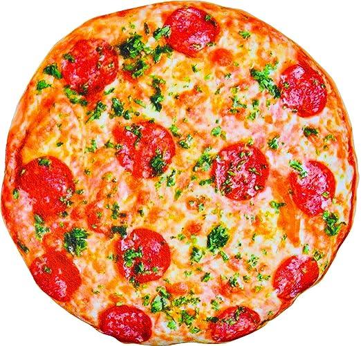 Kompanion Almohada Grande y Suave - Cojín de Pizza Realista – Almohadilla Decoración de Casa, Hogar, Habitación, Sofá, Cama y más – Lindo Accesorio, ...