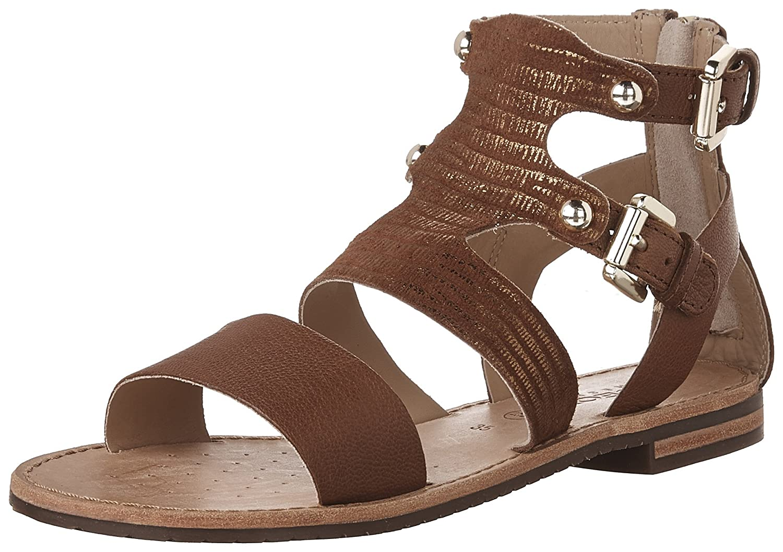 Brown Geox Women's D Sozy G Flat Sandals