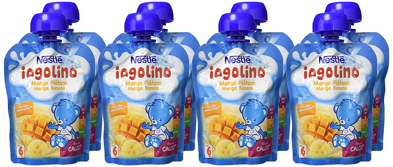 Nestlé iogolino Leche Fermentada con Fruta, mango y plátano - Paquete de 16 x 90 gr - Total: 1.44 kg: Amazon.es: Alimentación y bebidas