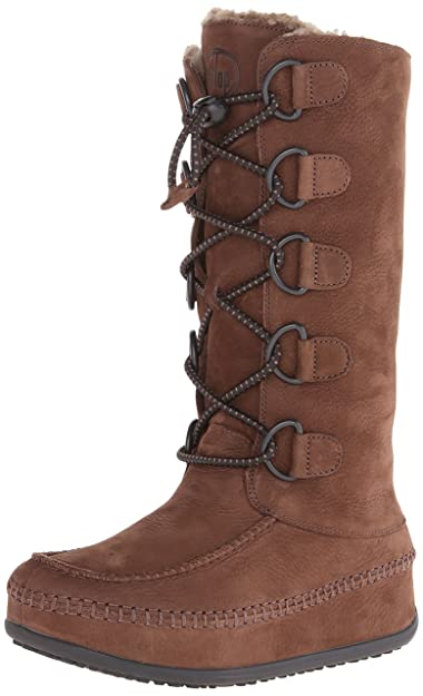 FitFlop Women's Tall Mukluk Moc 2 Boot,Chocolate Brown,5 ...