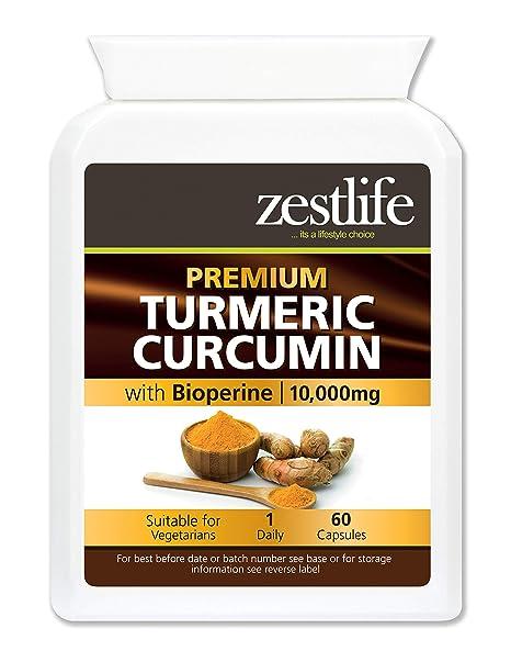 Zestlife Cúrcuma/Curcumina 60 cápsulas 500 mg extracto equivalente a 10.000 mg - Un fuerte