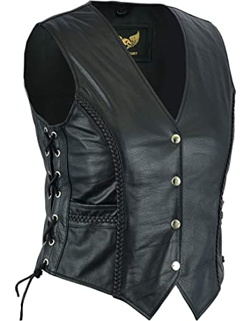 7bf544611ec Women Classic Bradied Real Leather Waistcoat
