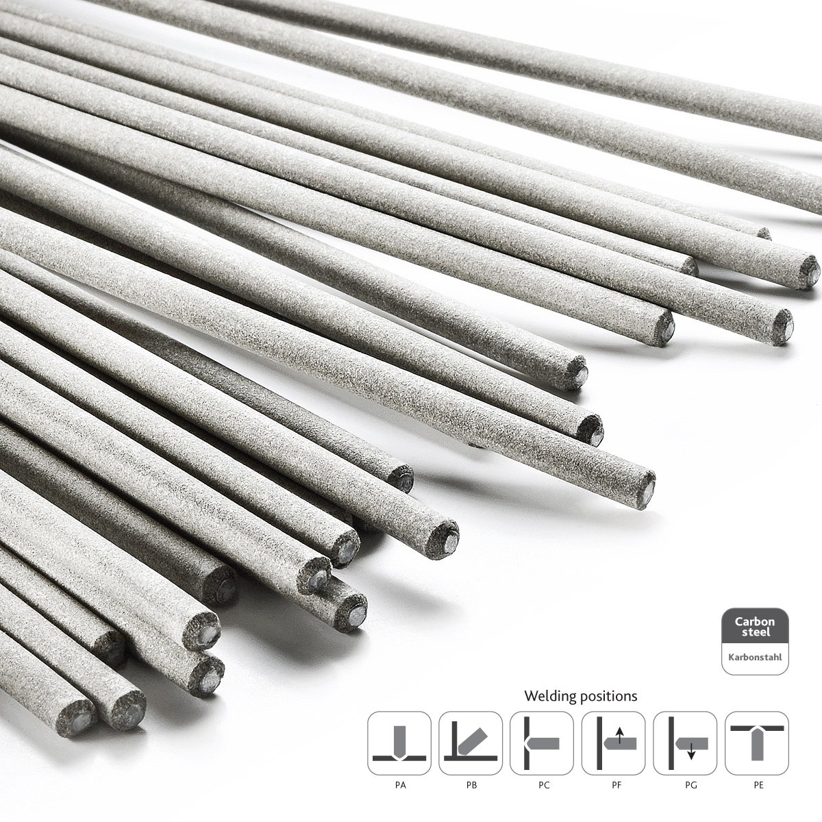 Rutile /à Baguette 3x35 mm Jeu de 35 Electrodes de Soudage 1kg STARK Electrode de Soudure Acier Universel