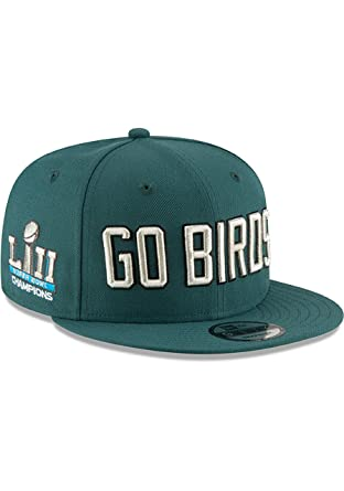 65412e8d6cf Philadelphia Eagles Green Go Birds SB LII Champ 9FIFTY Mens Snapback Ha