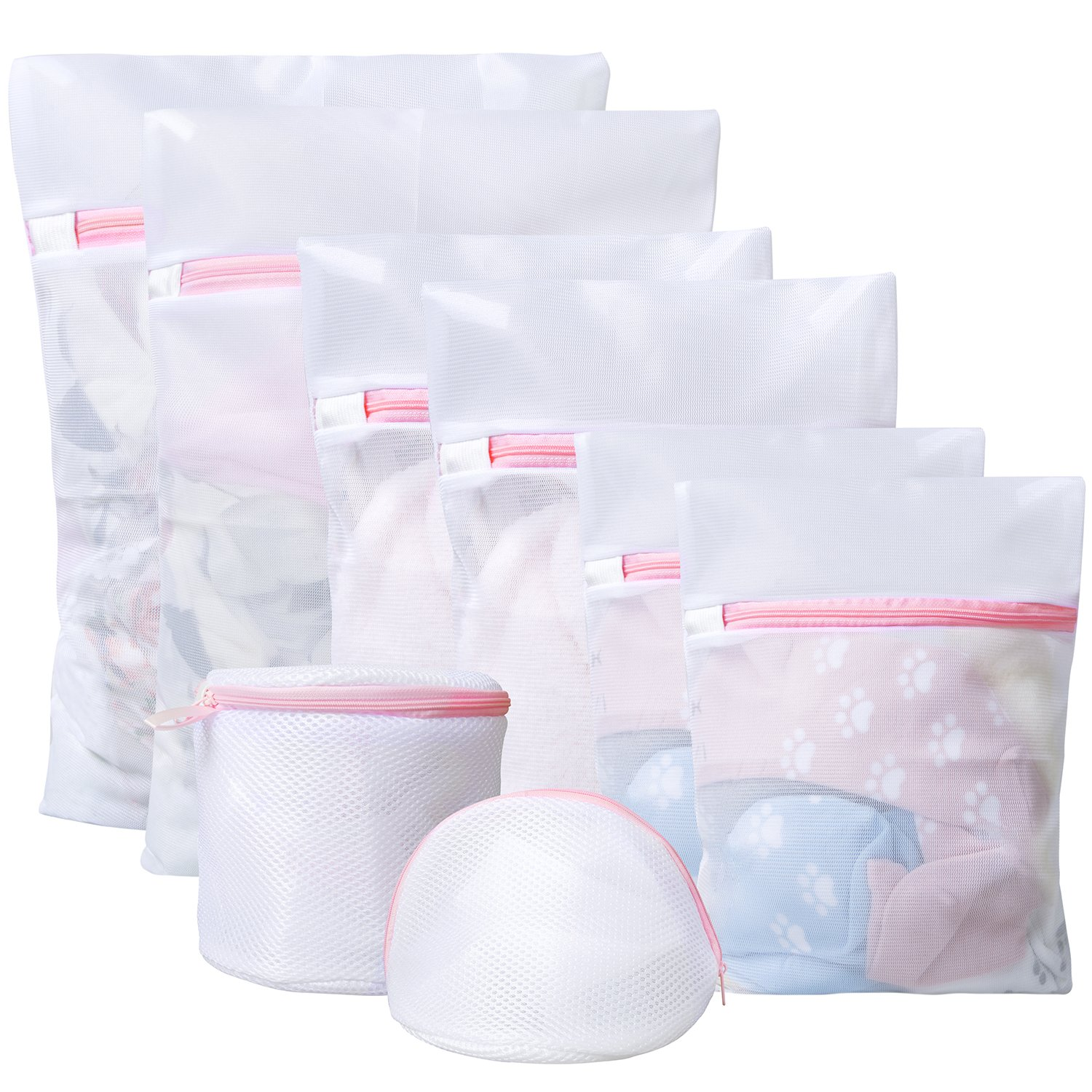 Stocking Lingerie Bag for Bra Besteek 8 Pcs Mesh Laundry Bags for Delicates Blouse Clothing Washing Bags Laundry 1 Extra Large, 1 Large, 1 Medium, 1 Small, 2 Extra Small, 2 Bra//Underwear Bag