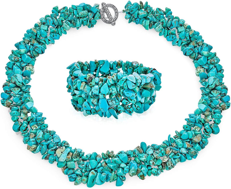 B4145 Turquoise Nugget /& Chrysoprase Teardrop Gemstone Bracelet  Green Blue Bead  Lobster Clasp  Extender  Boho  Choose  Stack