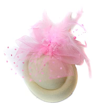 Caprilite Fashion Ivory Cream   Pink Baby Pill Box Hat Fascinator Hatinator  Clip Ascot Races Weddings cc2e9f6a805