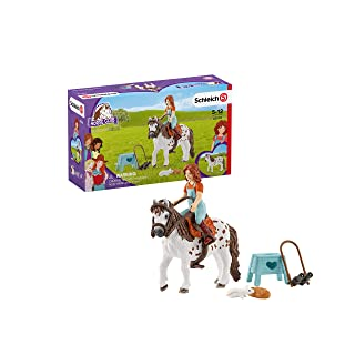 Schleich Horse Club Horse Club Mia and Spotty 9-piece Educational Playset for Kids Ages 5-12