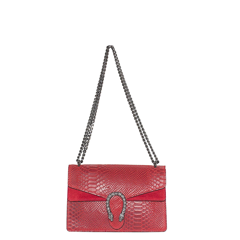 MASSIMA BARONI. Modelo Portofino. Bolso de Mujer de Piel de Auténtica. Se lleva Como Bolso de Hombro o Cruzado. Shoulder Bag de Diseño Exclusivo, Elegante y Atemporal