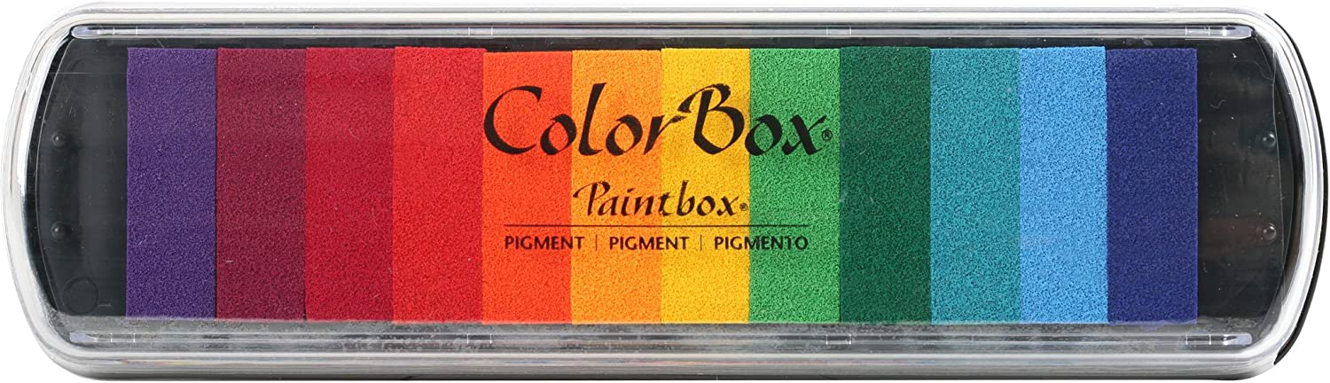 CLEARSNAP Colorbox Pigment Paintbox 2-Option Pad, Brights, 12 Colors Per Pad 81x5im2BGDLL