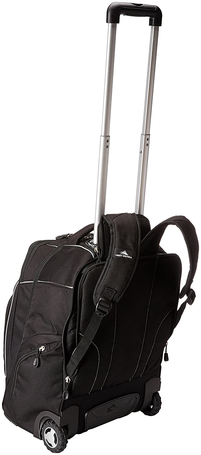 Com High Sierra Powerglide Wheeled Laptop Backpack Black Sports Outdoors
