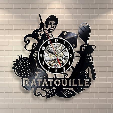 Ratatouille Mouse Kitchen Wall Art Vinyl Record Clock Interior Decor Home Design