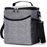 BRITOR Lunch Bag Insulated Lunch Box for Adults Men Women, 2.3 Gallon (12-Cans) Soft Cooler Tote, Waterproof Thermal Bento Bag with Shoulder Strap Pockets for Work/School/Picnic