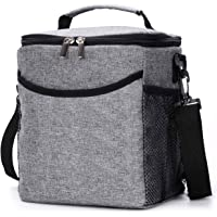 BRITOR Lunch Bag Insulated Lunch bix for Adults Men Women, 2.3 Gallon (12-Cans) Soft Cooler Tote, Waterproof Thermal Bento Bag with Shoulder Strap Pockets for Work/School/Picnic