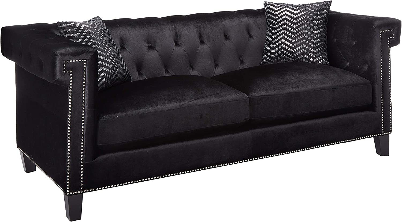 Coaster Sofa, Black