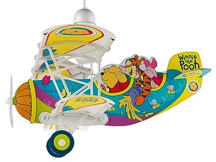 Dalber 54662 Hängeleuchte Flugzeug Winnie the Pooh Kinderzimmer ...