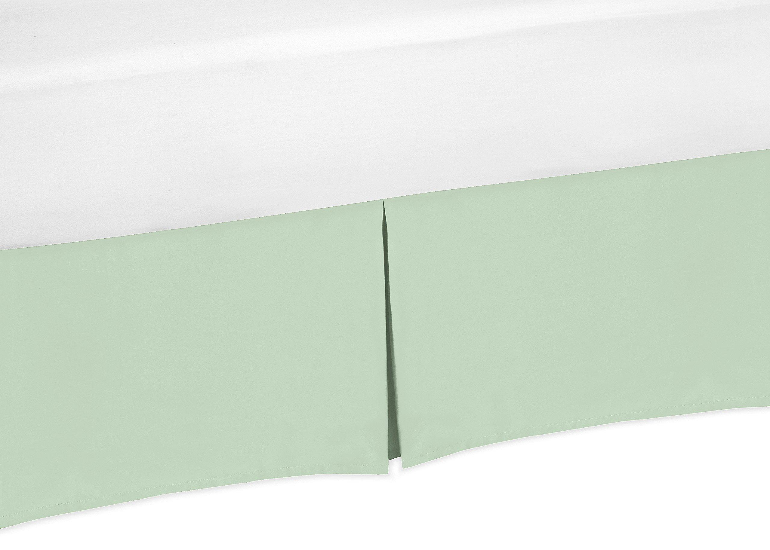 Sweet Jojo Designs Mint Green Crib Bed Skirt forBaby Bedding Sets