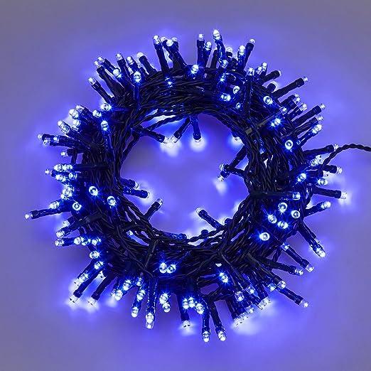 90 opinioni per Catena 12,5 m, 300 led blu, con giochi di luce, cavo verde, EX Best Value, luci