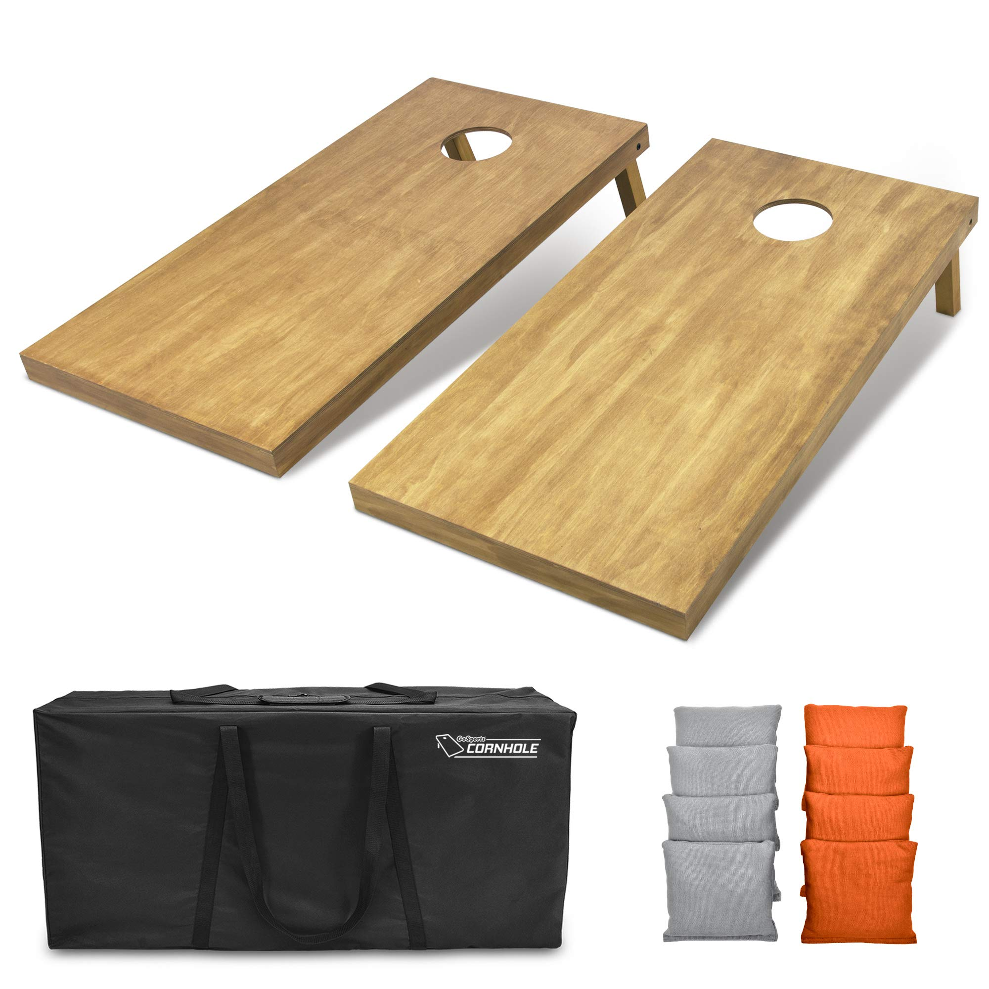 GoSports 4'x2' Regulation Size Wooden Cornhole Boards Set | Includes Carrying Case and Bean Bags (Choose Your Colors) Over 100 Color Combinations by GoSports