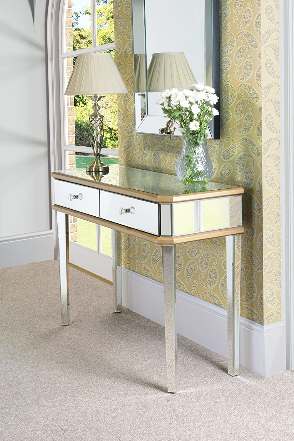 Etonnant MY Furniture   Mirrored Furniture Gold Gilt Dressing Console/table 4 Legs  (Versailles Range): Amazon.co.uk: Kitchen U0026 Home