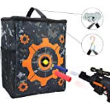 UWANTME Target Pouch Storage Carry Equipment Bag with 2PCS Hooks for Nerf N-strike Elite/Mega/Rival Series