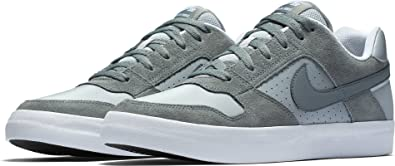 NIKE Mens SB Delta Force Vulc Cool Grey Wolf Grey White Size 6.5