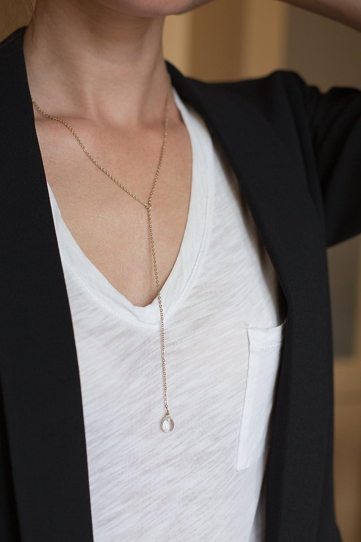 Well-liked Amazon.com: Benevolence LA Y Necklace Lariat Style: 14k Gold  BK13