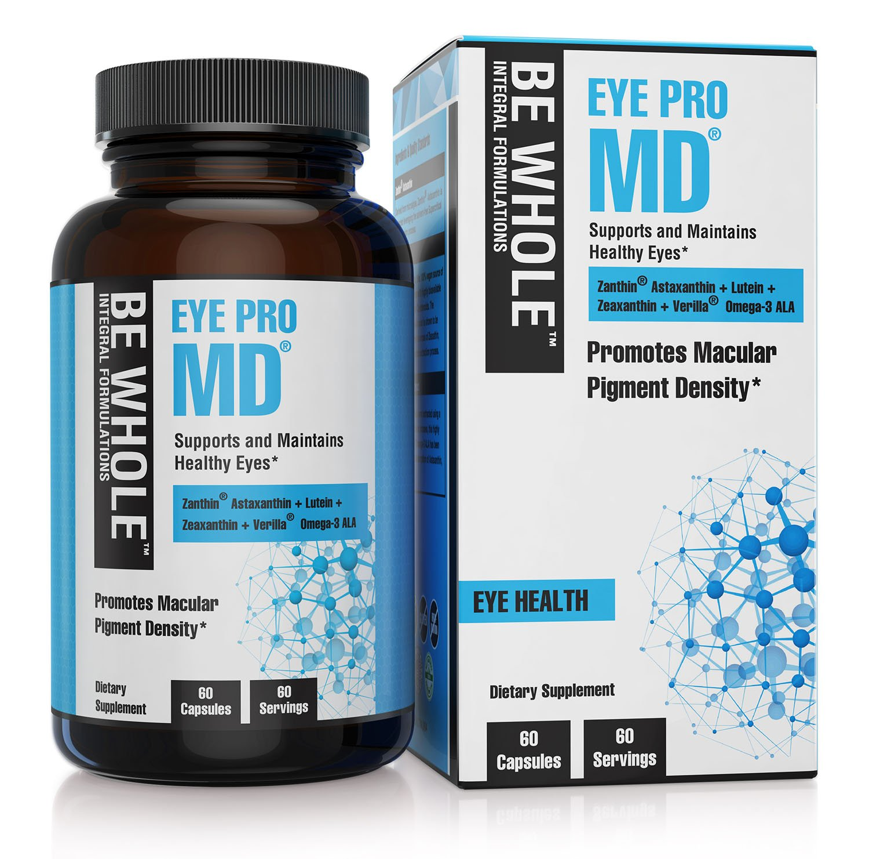 Eye Pro MD: Supports & Maintains Healthy Eyes - Synergistic Formulation Containing Zanthin Astaxanthin + Lutein + Zeaxanthin + Verilla Omega 3 ALA