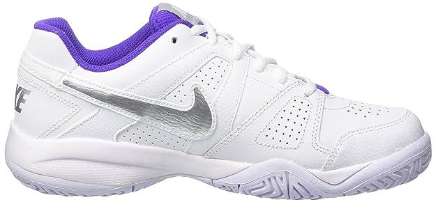 Amazon.com | Nike City Court 7 GS Running Trainers 488327 Sneakers Shoes (UK 5.5 us 6Y EU 38.5, White Metallic Silver 115) | Fashion Sneakers