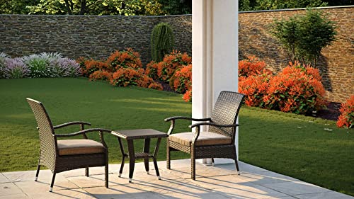 Patio Sense Miles Wicker Conversation Set