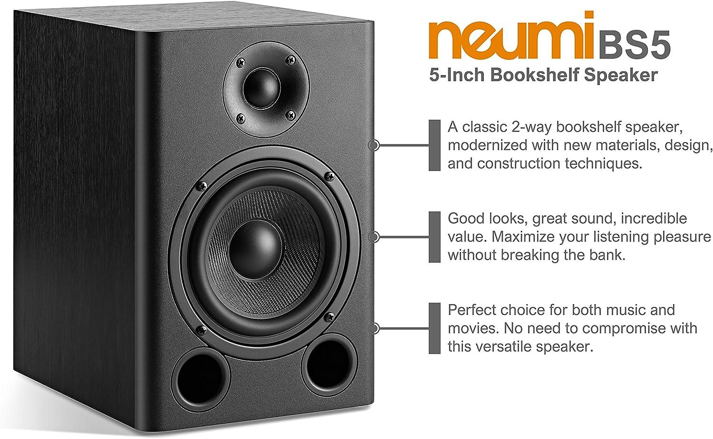 1-Inch Tweeter 1 Pair NEUMI BS5P 75-Watt Powered Bookshelf ...