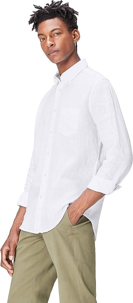 find. Regular fit Linen Shirt Camisa, Blanco (White), XXS: Amazon.es: Ropa y accesorios