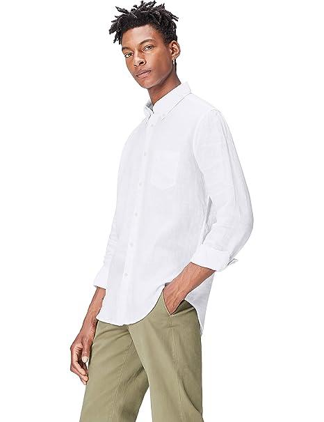 5e1532821ff7f FIND Camisa de Lino para Hombre  Amazon.es  Ropa y accesorios