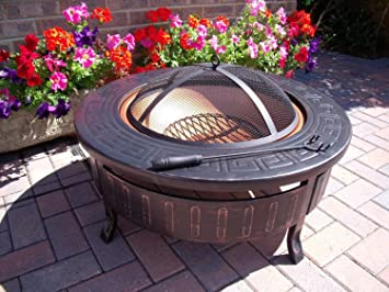 round patio. Round Patio Fire Pit Decking Firepit Garden Heater Table Brazier