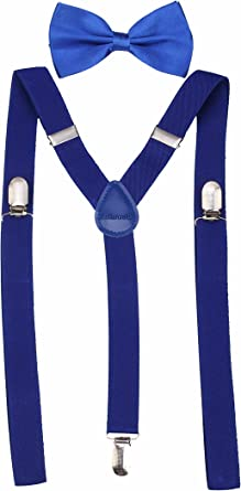 Tirantes resistentes y corbatín para hombre, clásicos Azul azul Medium: Amazon.es: Ropa y accesorios