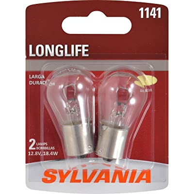 SYLVANIA - 1141 Long Life Miniature - Bulb, Ideal for Daytime Running Lights (DRL) and Back-Up/Reverse Lights (Contains 2 Bulbs): Automotive
