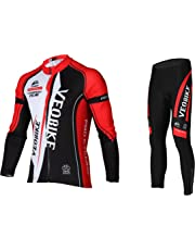 124a32c5b Asvert Men s Cycling Clothing Set Spring Autumn Breathable Quick-dry  Sportswear Suit Men and Women