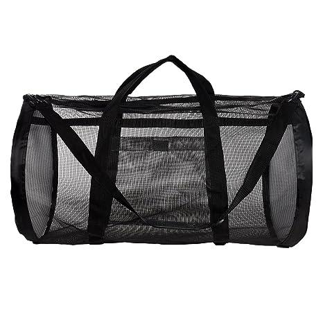 Image Unavailable. Image not available for. Color  Ivation Dive Bag - Heavy  Duty Mesh Duffel Bag, Features Storage ... 7497d3dddc