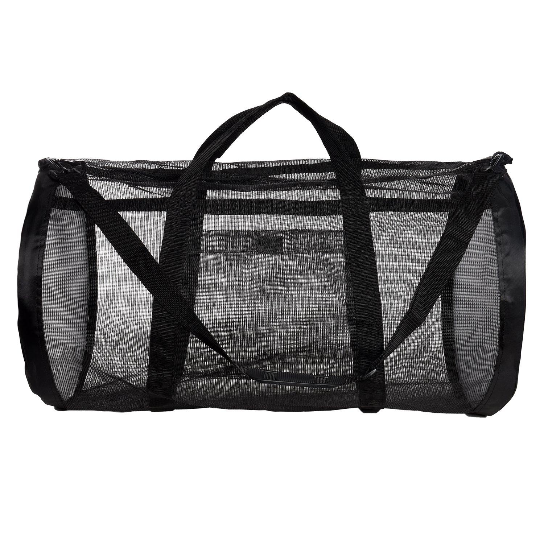 Dive Bag - Heavy Duty Mesh Duffel Bag, Features Storage Pouch for Diving, Scuba, Snorkel, Swim, Surf, Sports & More