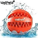 Premium Hundeball 2 Stück | Hundespielzeug Ball aus Naturkautschuk mit Zahnpflege Funktion | BONUS: 1 Gratis Ebook Hundetraining | Snackball Hund & Dentalball ideal für Große & Kleine Hunde sowie zahnende Welpen | Kräftiger Kauspaß mit DentaClean Technologie | Set: Ø 7 & 8cm | Futterball Hund aus Natur-Gummi | Spielball Robust & Langlebig mit Loch für Leckerlis