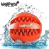 Premium Hundespielzeug Ball 2 Stück | BONUS: 1 Gratis Ebook Hundetraining | Hundeball & Snackball | Rot & Grün | Ø 7 & 8cm | Langanhaltender Spielspaß | aus Naturkautschuk mit Zahnpflege Funktion | Robust & Langlebig | Hundeball mit Loch für Leckerlis