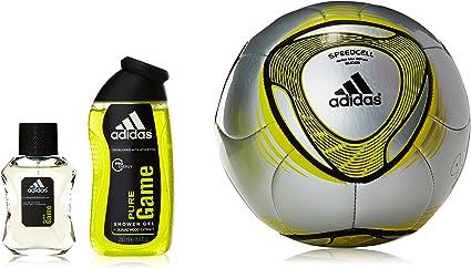 Agotamiento Así llamado Y equipo  Adidas Pure Game Set Agua de Colonia - Estuche + Balon: Amazon.es: Belleza