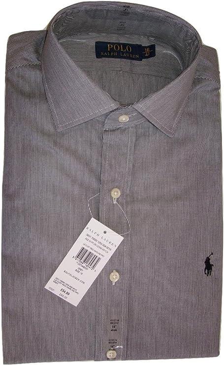 Ralph Lauren camisa de Regent para hombre Custom Fit Grey ...