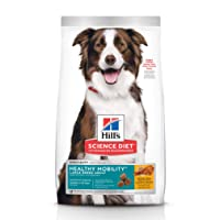 Hill's Science Diet Dry Dog Food, Adult, Large Breed, Healthy Mobility for Joint Health, Chicken Meal, Brown Rice & Barley Recipe, 30 lb Bag (9235)