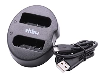 Cargador Dual USB Micro vhbw para cámara Nikon D3400 ...