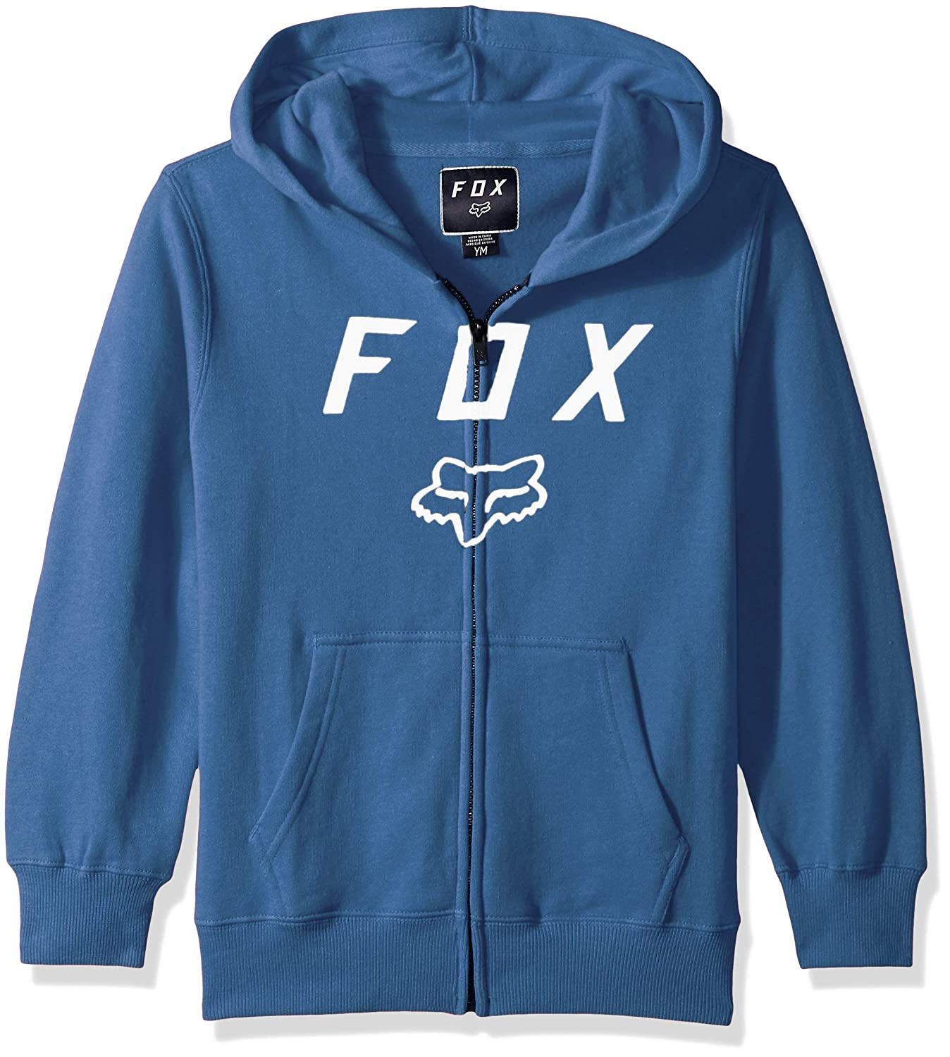 Fox Racing Big Boys Legacy Moth Fleece Hoody,YM,Blue