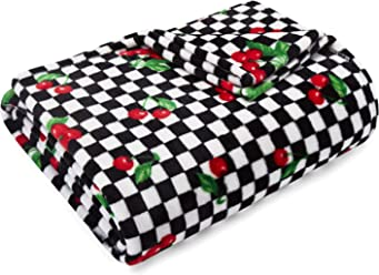 Betsey Johnson Throw 50x70 Cherry Checker