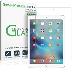 amFilm Glass Screen Protector for iPad Pro 12.9 (2015, 2017), Tempered Glass