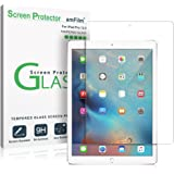 iPad Pro 12.9 Screen Protector Glass, 1st and 2nd Generation Tempered Glass Screen Protector for Apple iPad Pro 2015 0.33mm 2.5D Rounded Edge (1-Pack) 2015, 2017