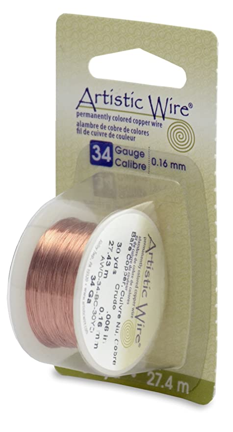 Amazon.com: Artistic Wire 34-Gauge Bare Copper Wire, 30-Yards